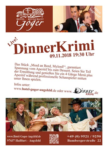Hotel Restaurant Goger Haßfurt DinnerKrimi