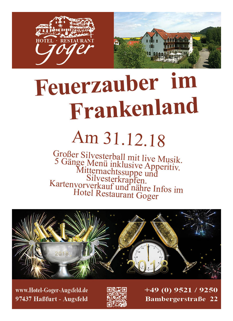 Hotel Restaurant Goger Haßfurt Sylvesterball