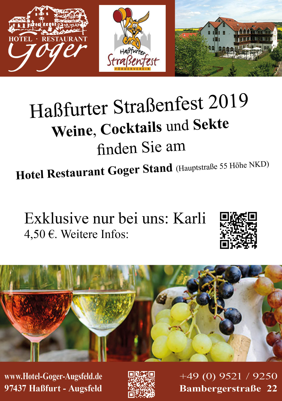 hassfurterstrassenfest v1 2 - Haßfurter Straßenfest 4 bis 5.10.2019